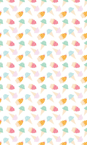 Ice Cream Cones Photo Backdrop