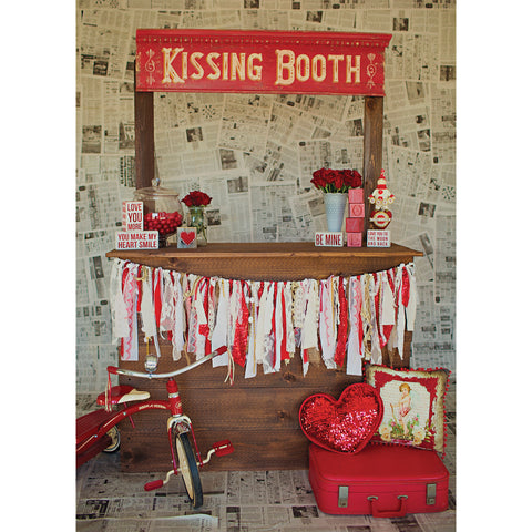 Kissing Booth Photo Backdrop Background