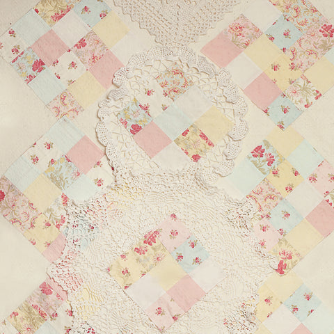 Vintage Lace Quilt Photo Backdrop