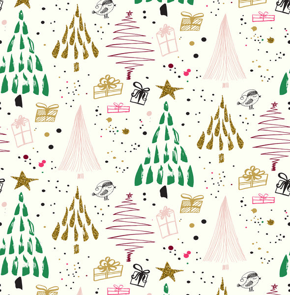 Natal Trees Photo Backdrop