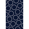 Navy Blue with White Circles Photo Backdrop