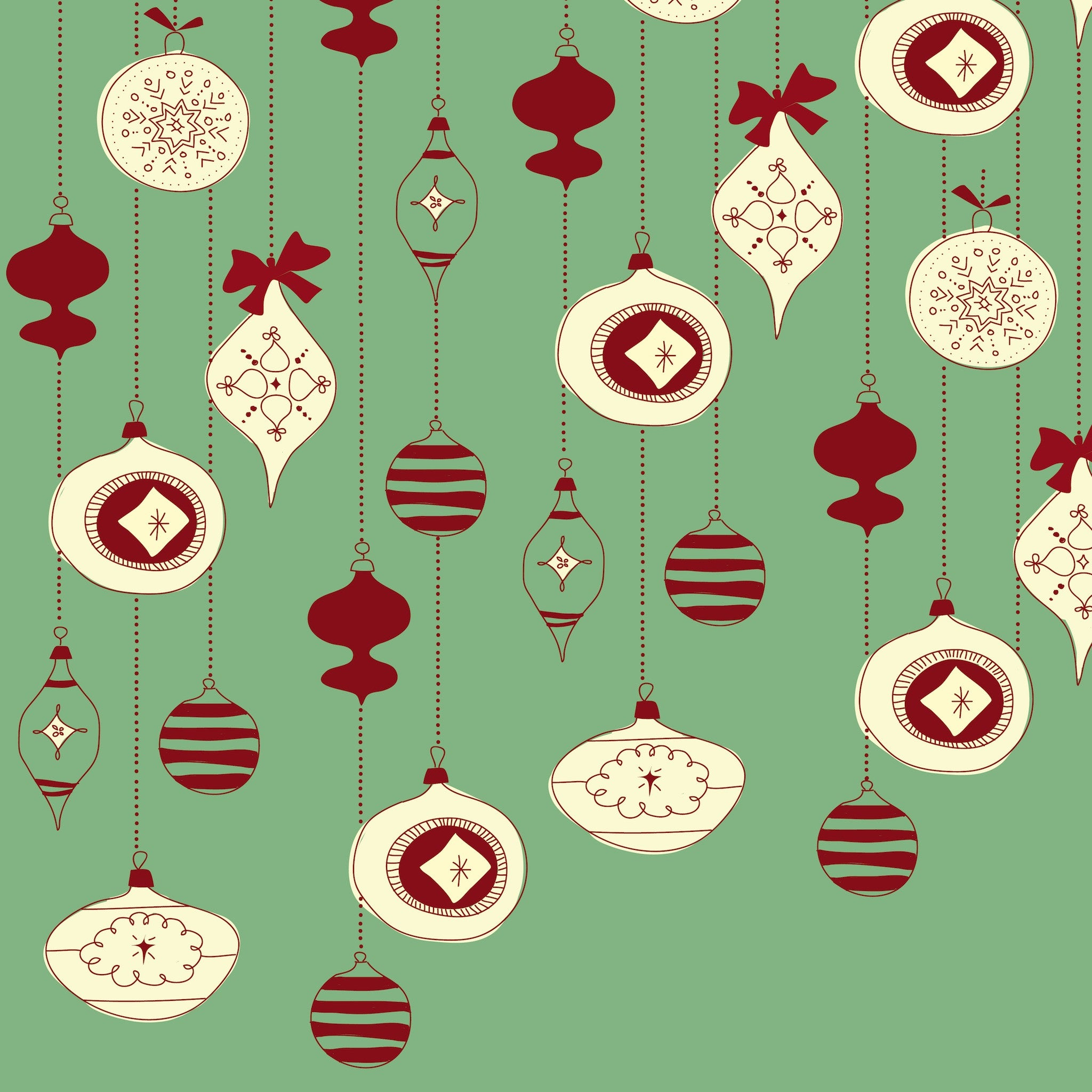 Dangling Ornaments Photo Background