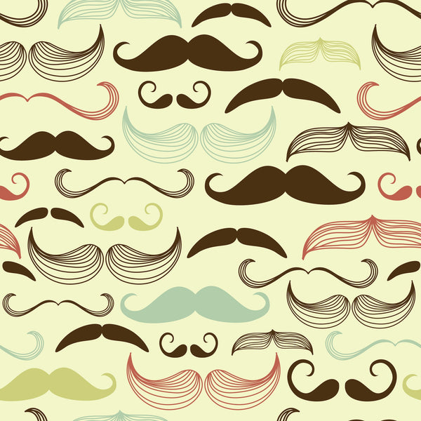 Mustachio Photo Backdrop