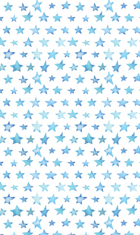 Painted Blue Stars Photo Backdrop