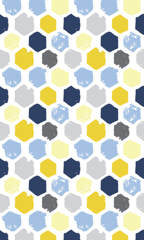 Painted Hexagons Photo Backdrop