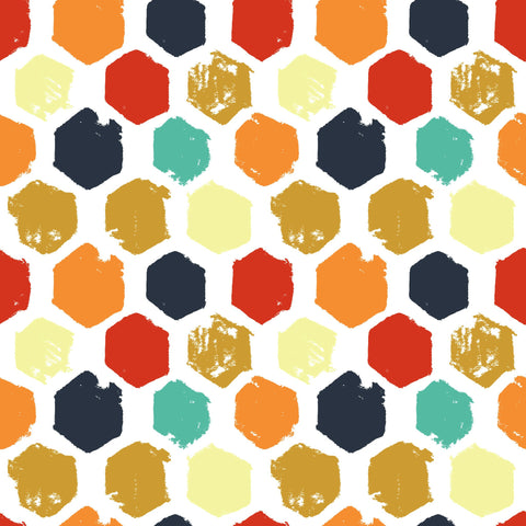 Used - Painted Hexagons Photo Backdrop