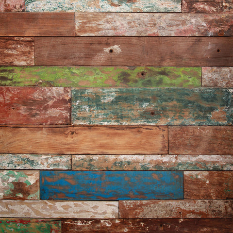 Used - Painted Wood Photo Backdrop