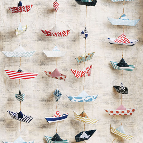 Paper Boats Photo Backdrop