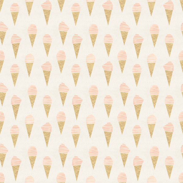 Pink Ice Cream Photo Backdrop