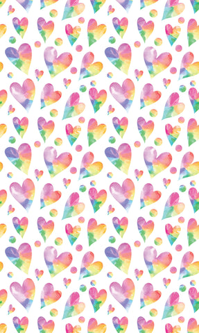 Rainbow Hearts Photo Backdrop
