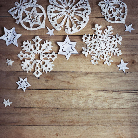 Rustic Snowflakes Photo Backdrop