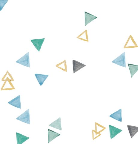 Painted Triangles Blues Photo Backdrop