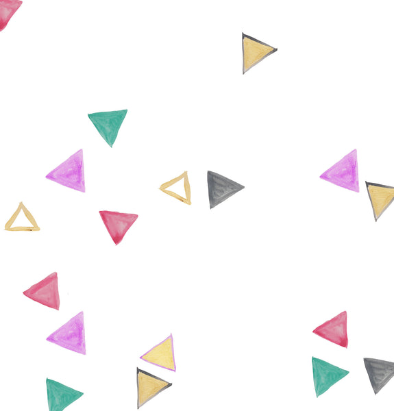 Painted Triangles Colors Photo Backdrop