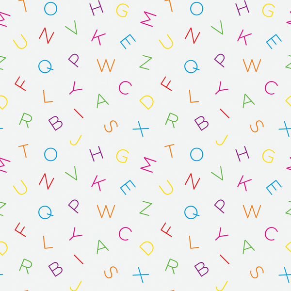 Scattered Alphabet Photo Backdrop