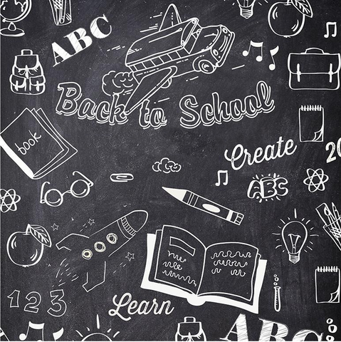 Back to School Chalkboard Photo Backdrop