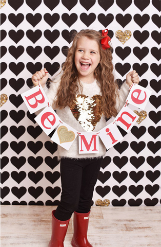 Gold Hearts Photo Backdrop