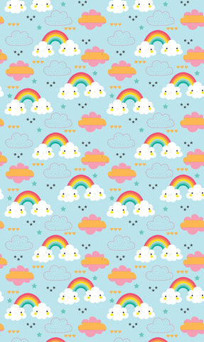 Smiley Clouds Photo Backdrop