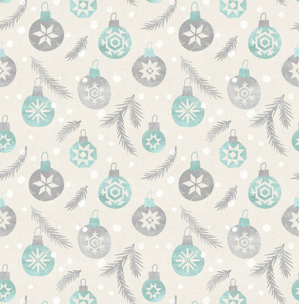 Snowflake Ornaments Photo Backdrop