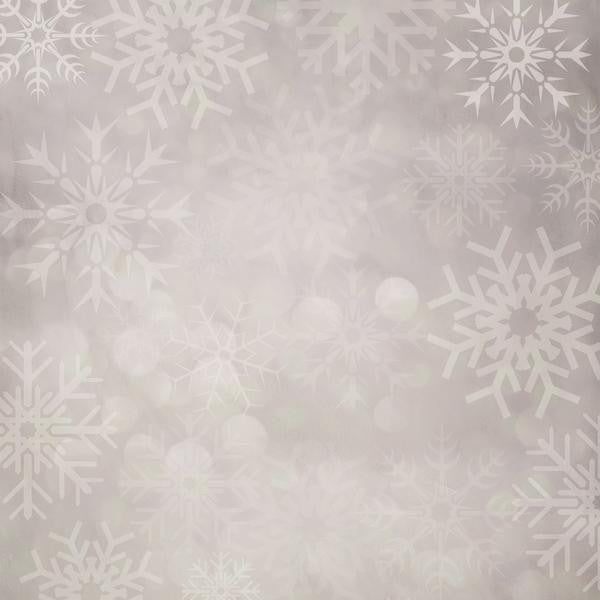 Clearance Snowflakes Photo Backdrop