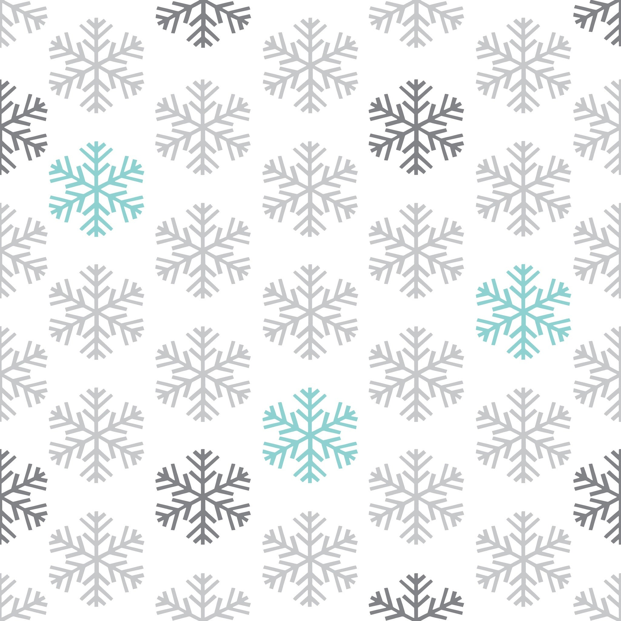 Simple Snowflakes Photo Backdrop