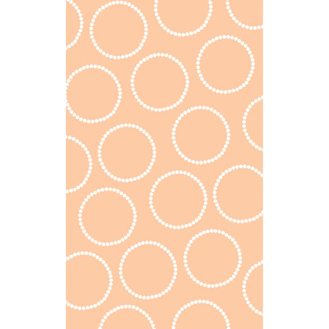 Soft Peach with Circles Photo Backdrop