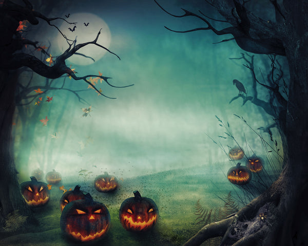 Spooky Hallows Photo Backdrop