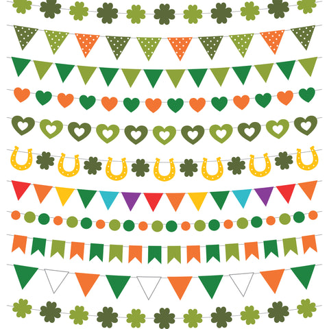 St. Patrick's Day Flags Photo Backdrop