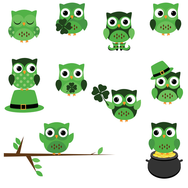 St. Patty's Owls Photo Backdrop