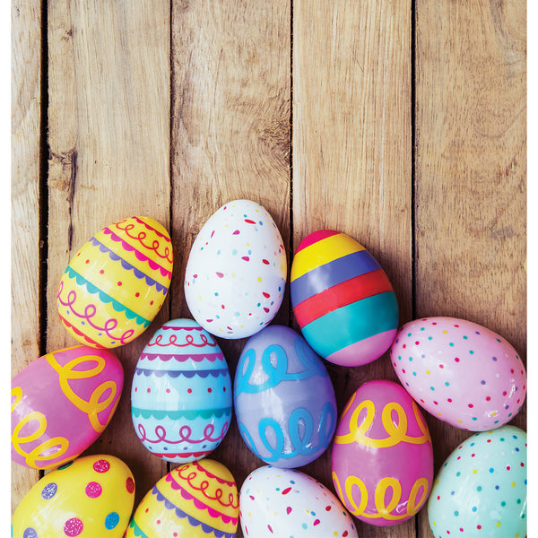 Stacked Easter Eggs Photo Backdrop