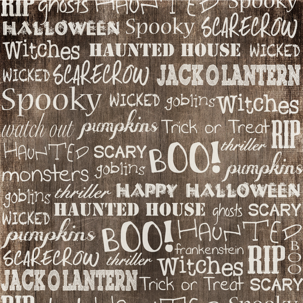 Spooky Words Photo Backdrop *FAVORITE