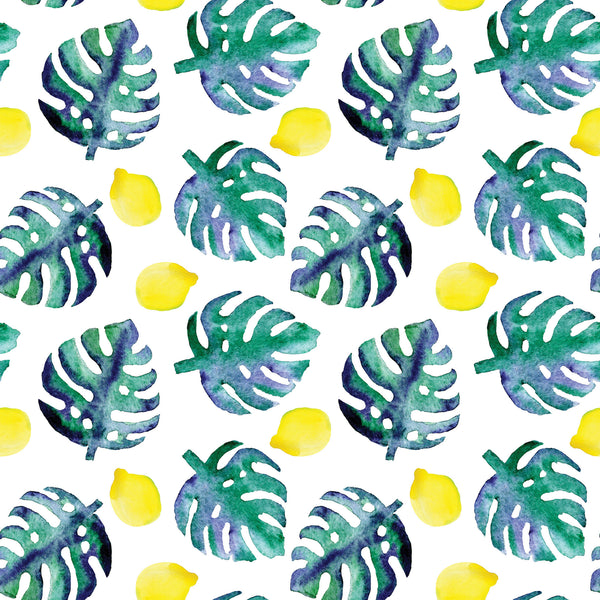 Tropical Lemon Photo Backdrop