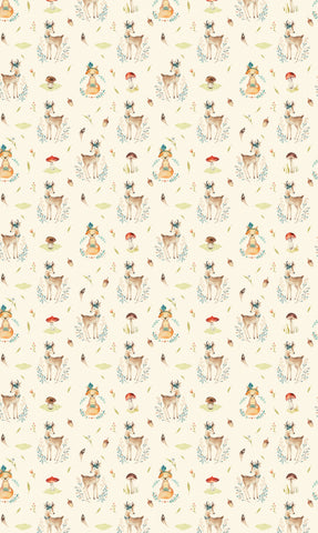 Vintage Woodland Animals Photo Backdrop