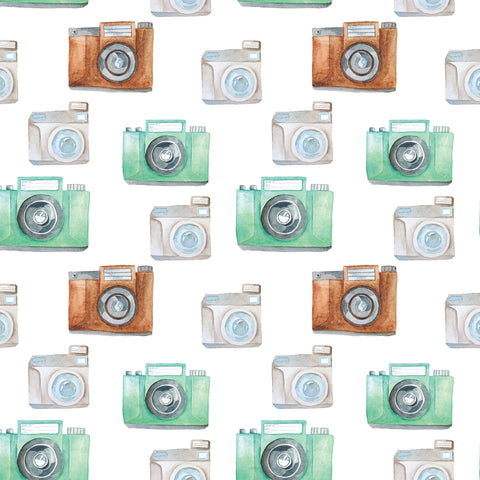 Water Color Camera Photo Backdrop