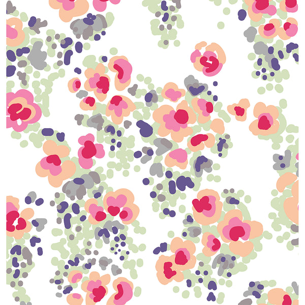 Watercolor Flowers Photo Backdrop