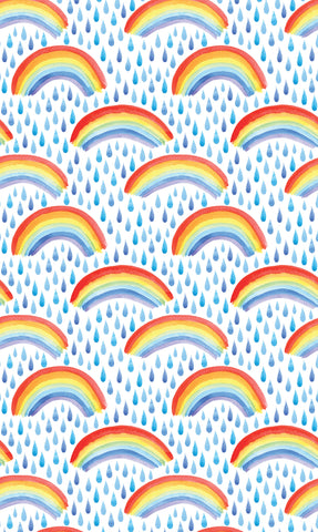 Watercolor Rainbows Photo Backdrop