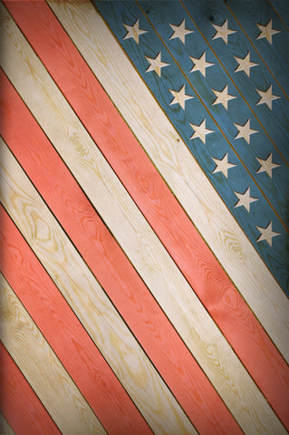 Wood American Flag Photo Backdrop