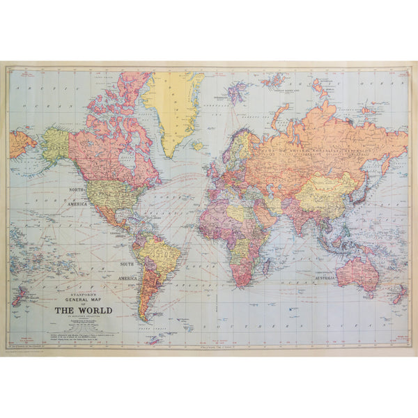 World Map Photo Background