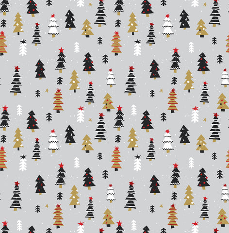 Xmas Trees Photo Backdrop