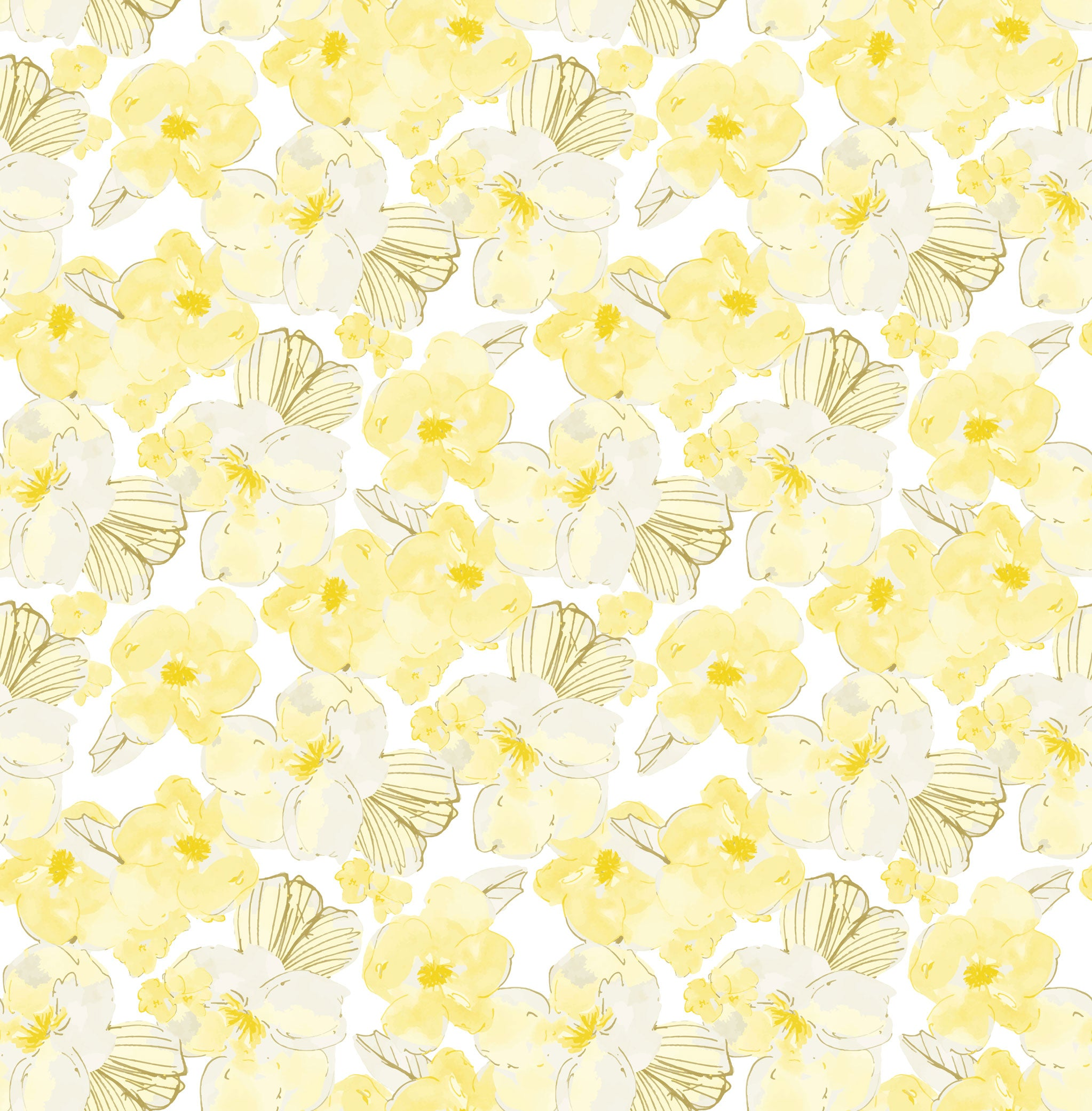 Yellow Flowers Photo Backdrop