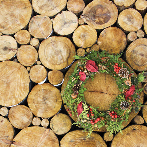 Yule Logs Photo Backdrop