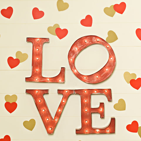 Love on the Marquee Photo Background