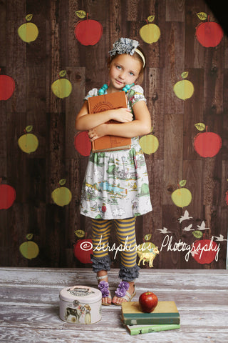Clearance Painted Apples Photo Backdrop