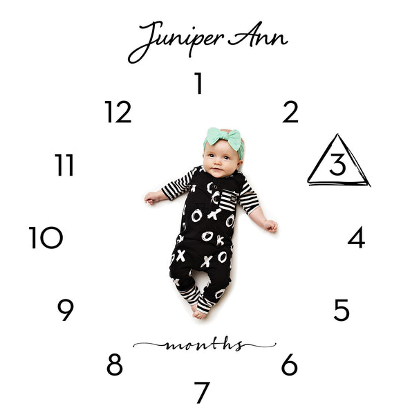 Clock Calendar Photo Backdrop