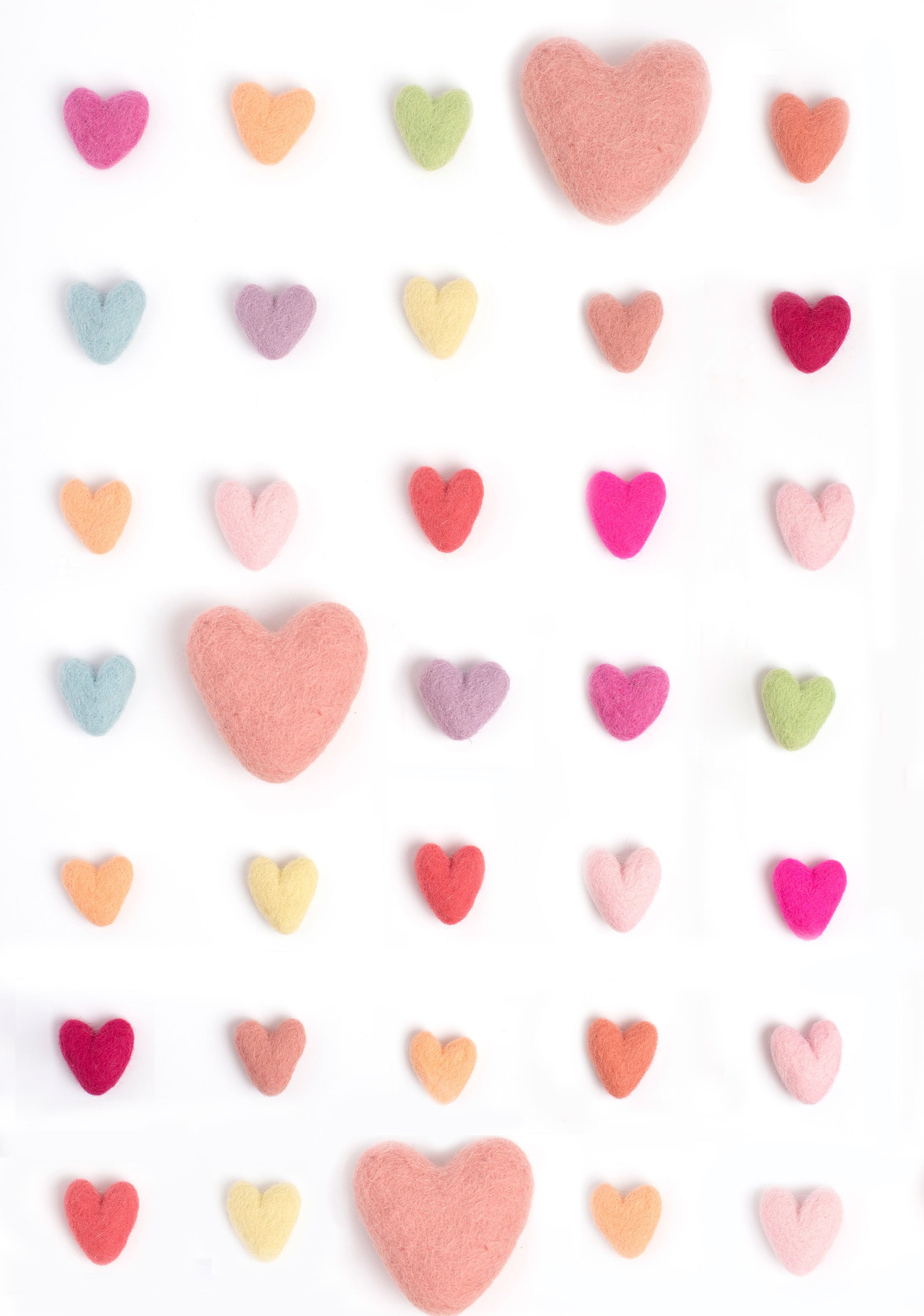 Felt Hearts Photo Background