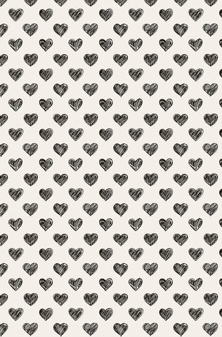 Hand Drawn Heart Photo Backdrop