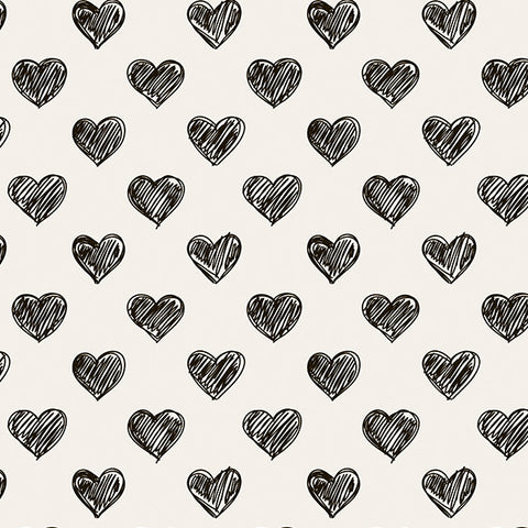 Hand Drawn Heart Photo Background