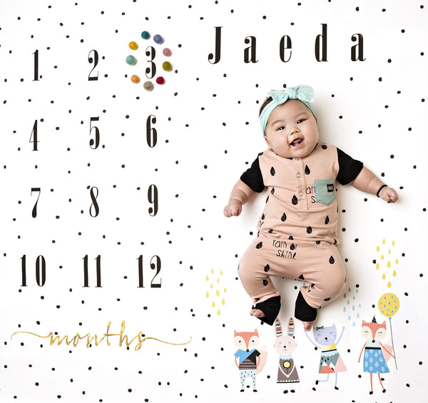 Polka Calendar Photo Backdrop