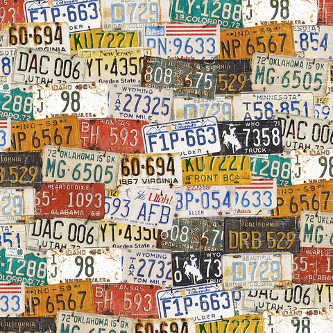 License Plates Vintage Photo Background