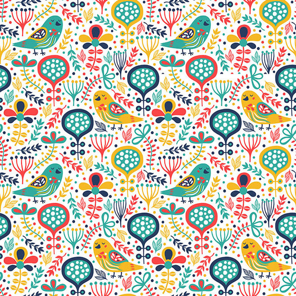 Painted Bird Photo Backdrop