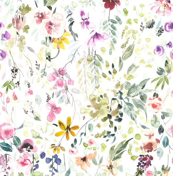 Painted Wild Flowers photo background